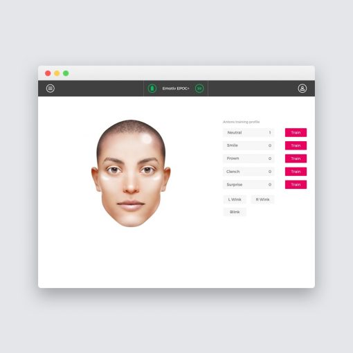 EmotivPro performance interface screenshot metrics research recording exporting emotiv bci facial expressions