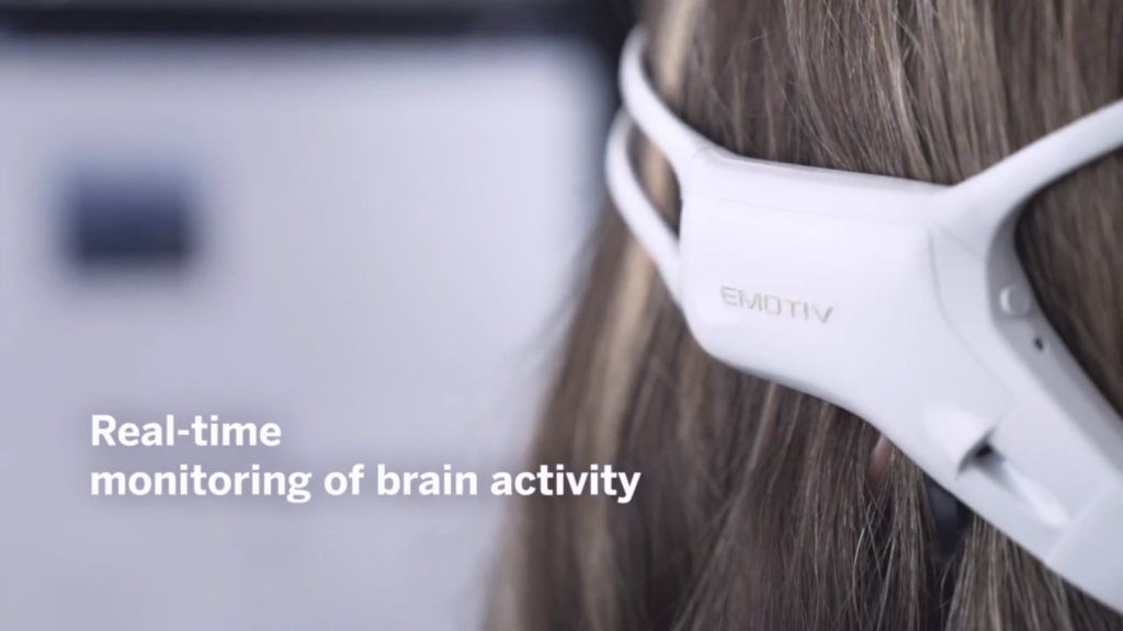 EMOTIV eeg headset - monitoring brain activity in real-time