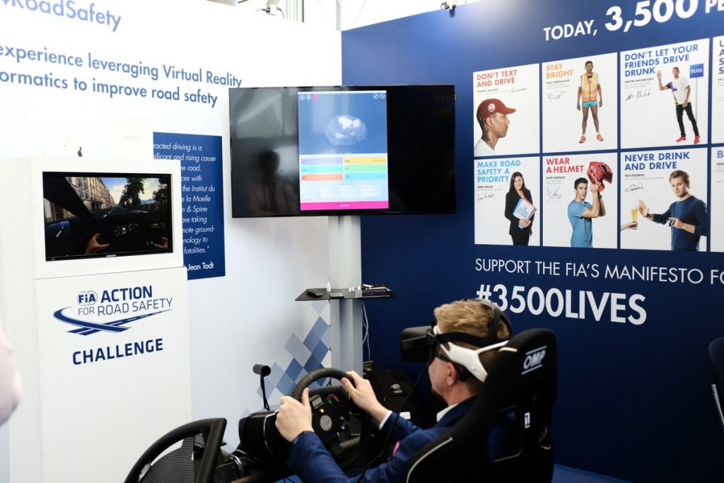 Man interacting with game wearing emotiv insight headset BCI Brain Computer Interface